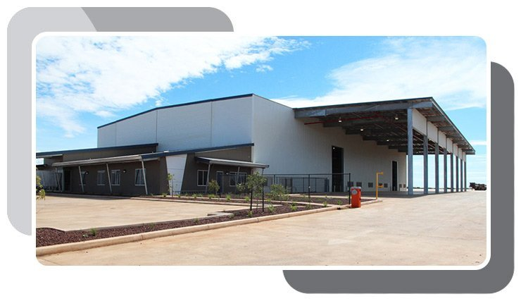 Our commercial industrial construction location in Perth