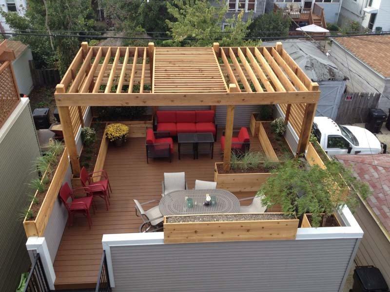 view all - Cityscape Landscape - Wood Dale, IL - Pergola & Deck Designs