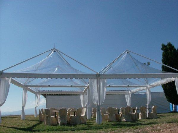 Gazebo tetto trasparente