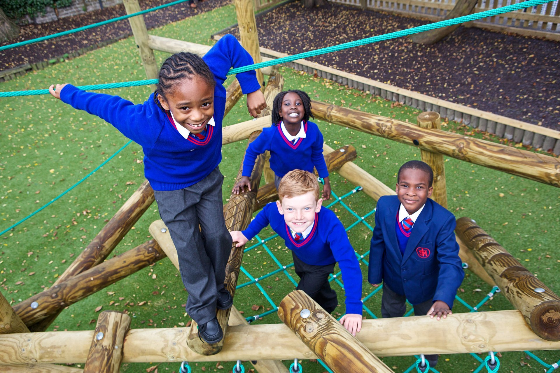 School playgrounds to combat childhood obesity - Playcubed Playgrounds