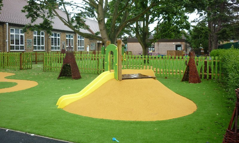 School Playground design & installation at Hazelbury Infant School in Enfield, London | Playcubed Playgrounds