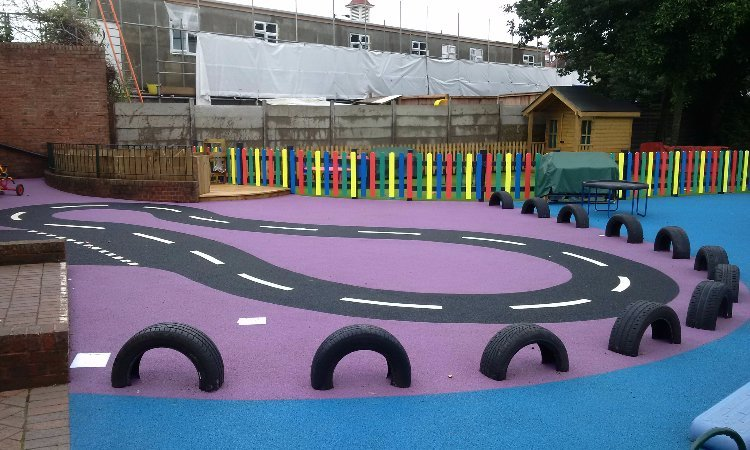 Play area install and design for Bush Hill Park Primary School - Playcubed
