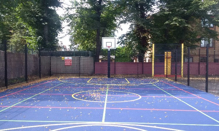 School MUGA instllation for Primary School in Croydon, London - Playcubed Playgrounds