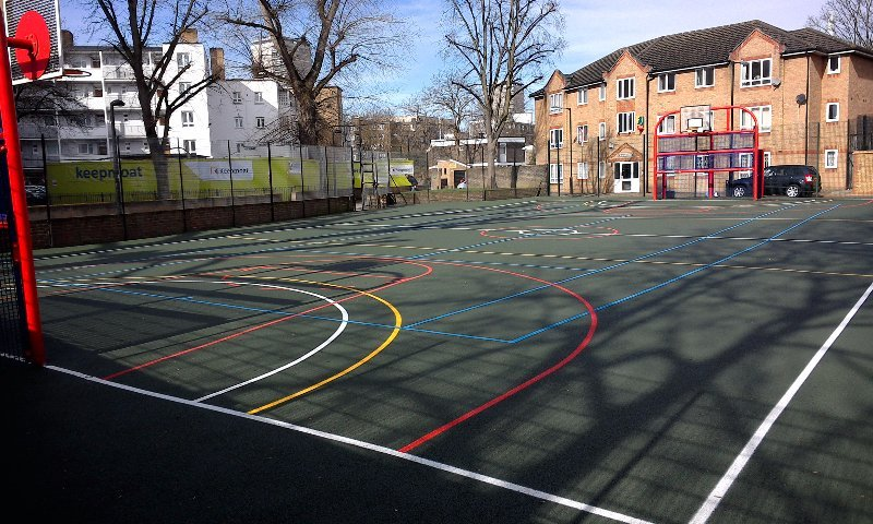 MUGA installation for Southwark Council in London - Playcubed Playgrounds