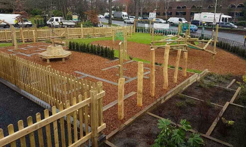 Park Play area design & install by Playcubed for Bromely Council in London