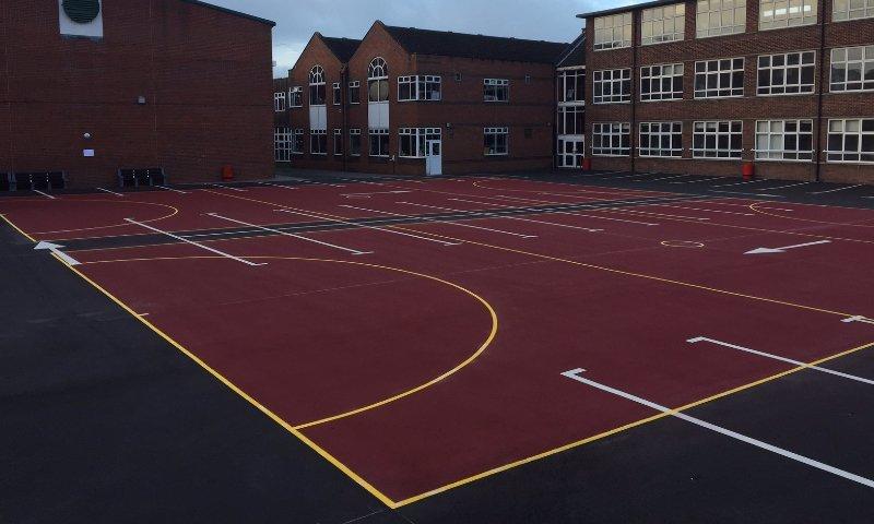 MUGA install at Dartford Grammer School in Kent
