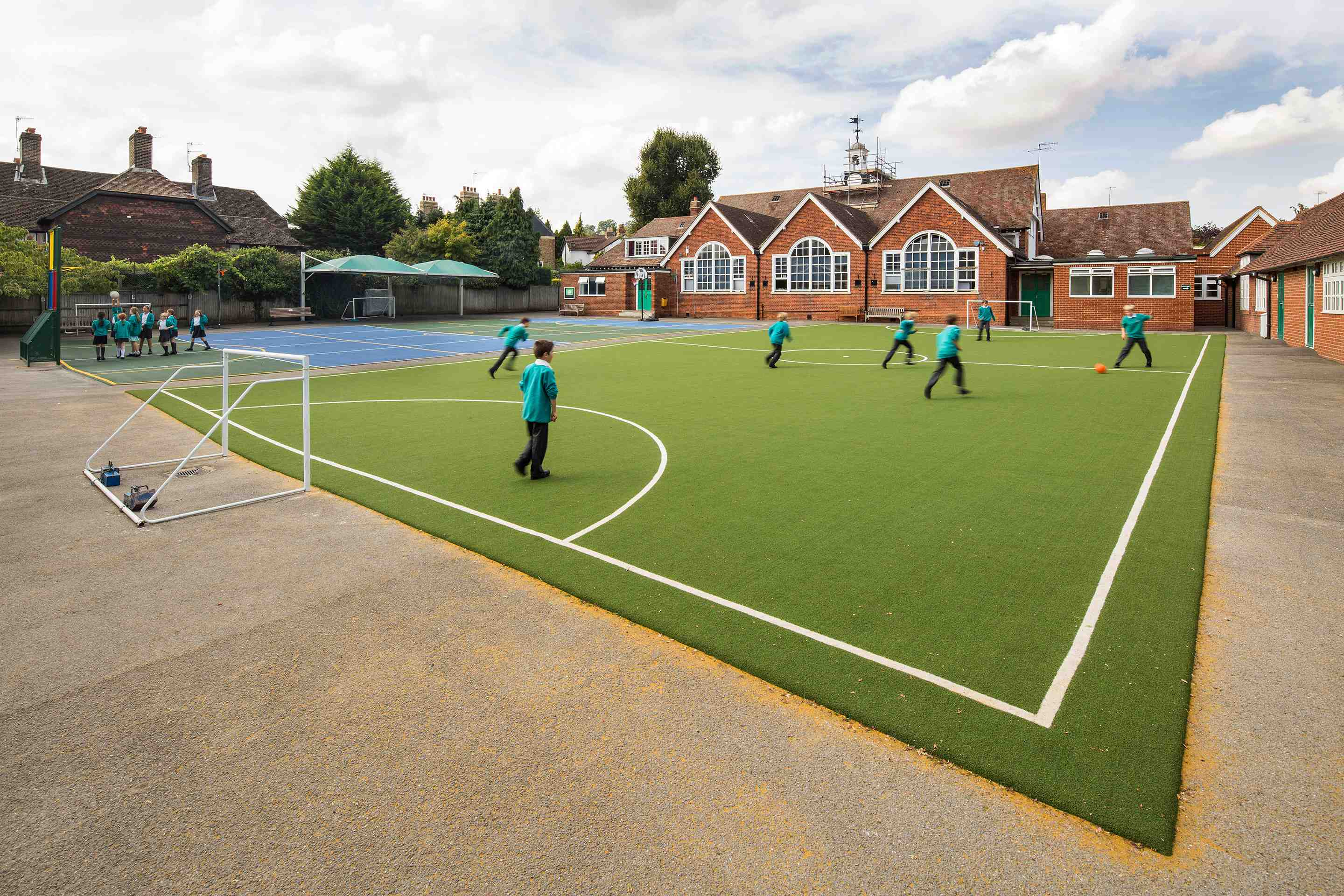 MUGA design and installation at Godalming School.