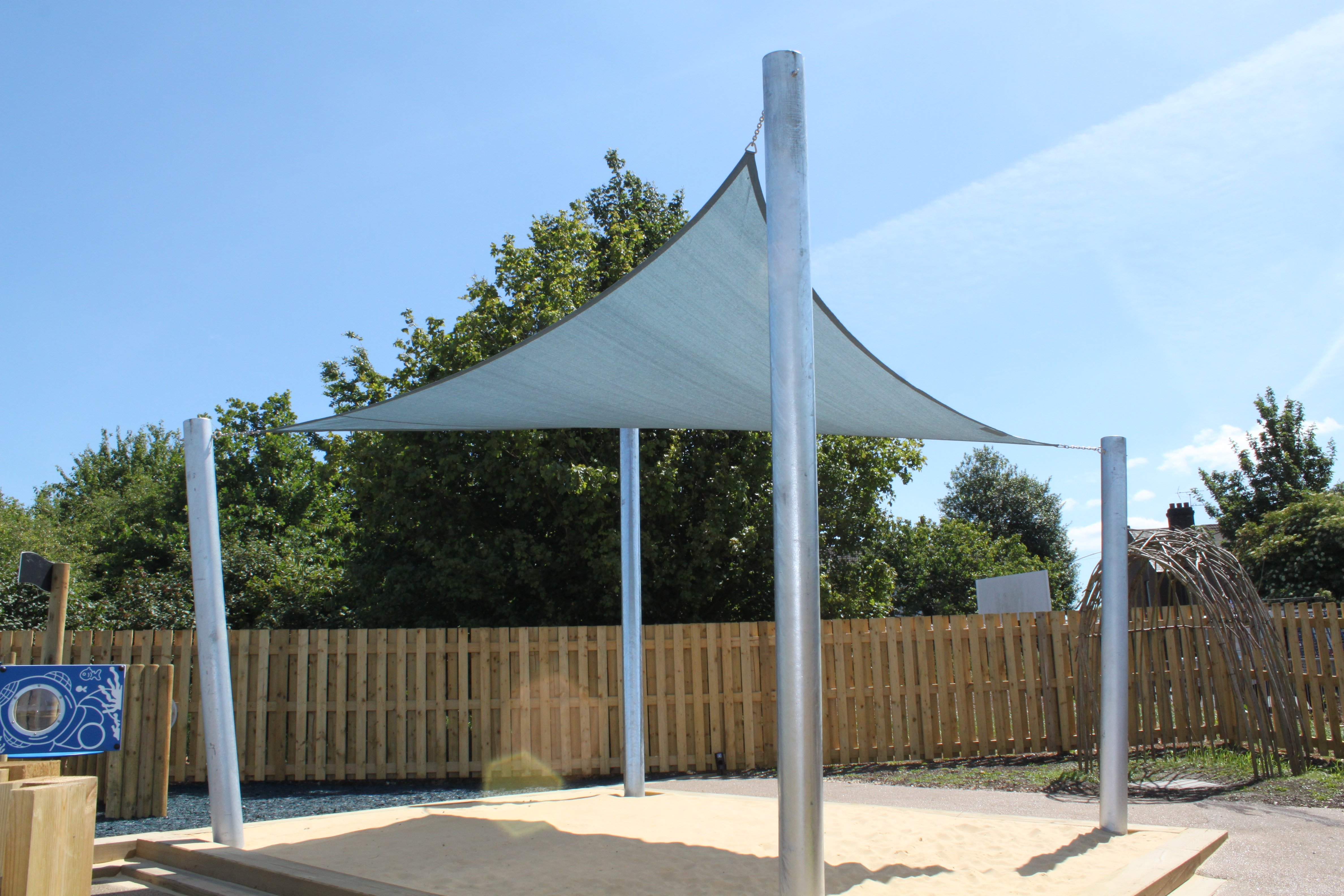 Shade sail design installation in kent south east london for Colorado shade sail