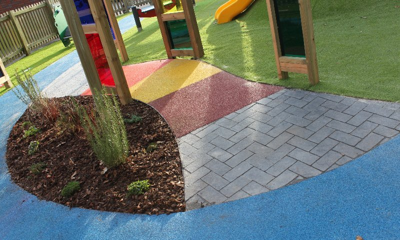 School Playground design & installation at Woodlands School in Surrey | Playcubed Playgrounds