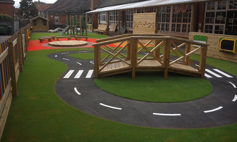 School play area design & install at Henry Green Primary School in Dagenham, London - Playcubed Playgrounds