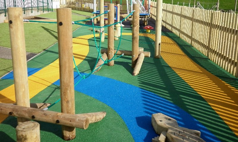 School trim trail equipment and surfacing installation in Bexley, London - Playcubed Playgrounds