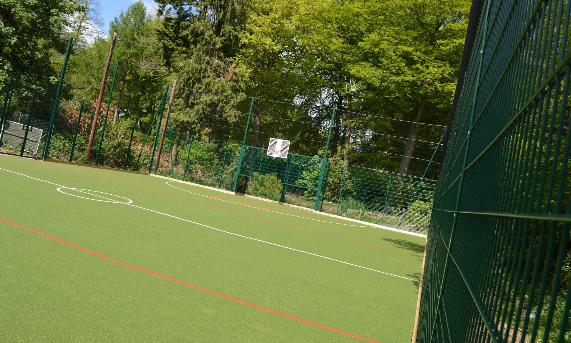 School MUGA design & installation at Carwarden House School in Cambridge, Surrey | Playcubed Playgrounds