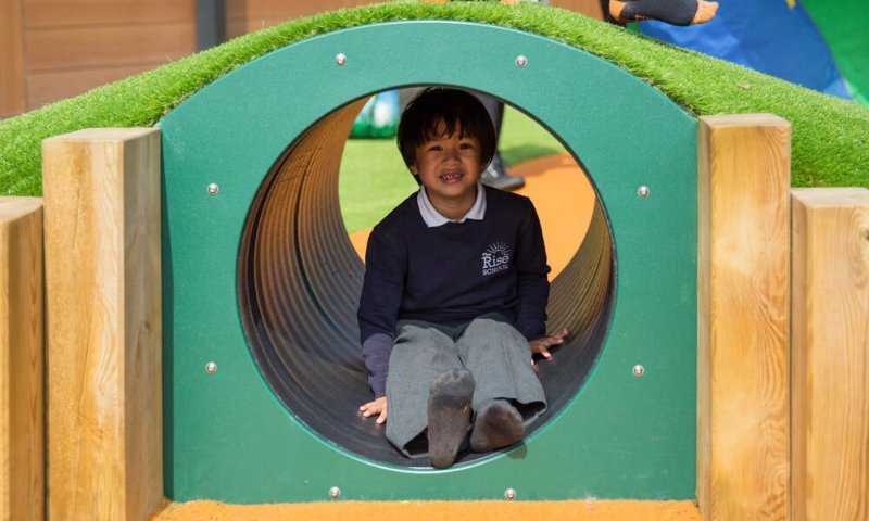 School Playground design & installation at The Rise School in Feltham, London | Playcubed Playgrounds