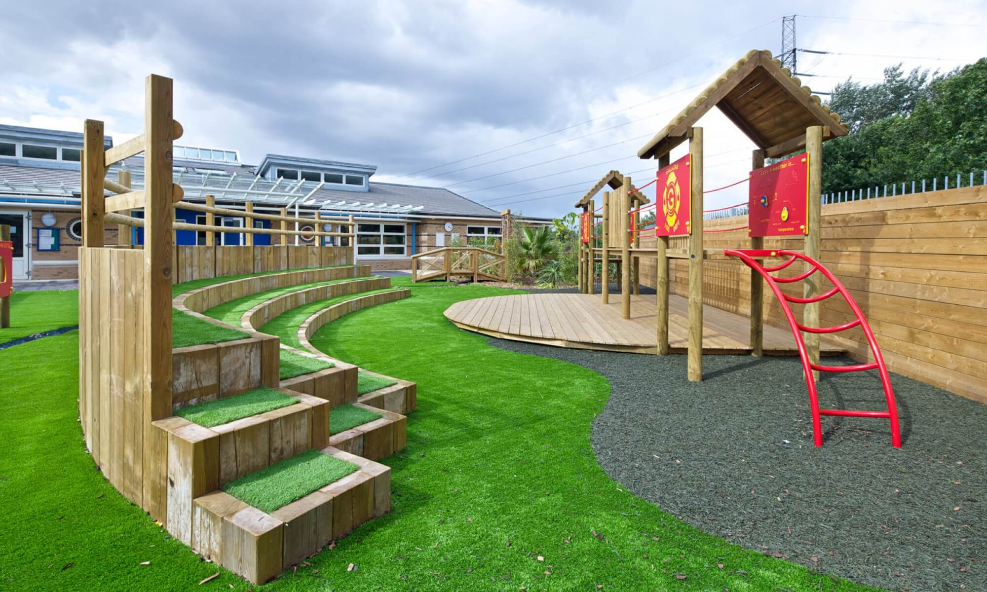School Playground design & installation at Gallions Primary School in Woolwich, London | Playcubed Playgrounds
