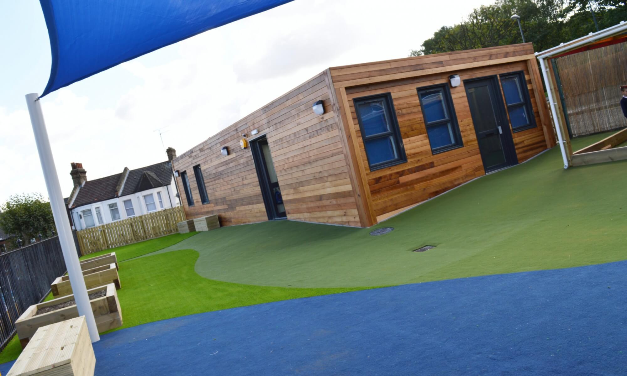School Playground design & installation at Plumcroft Primary School in Plumstead, London | Playcubed Playgrounds