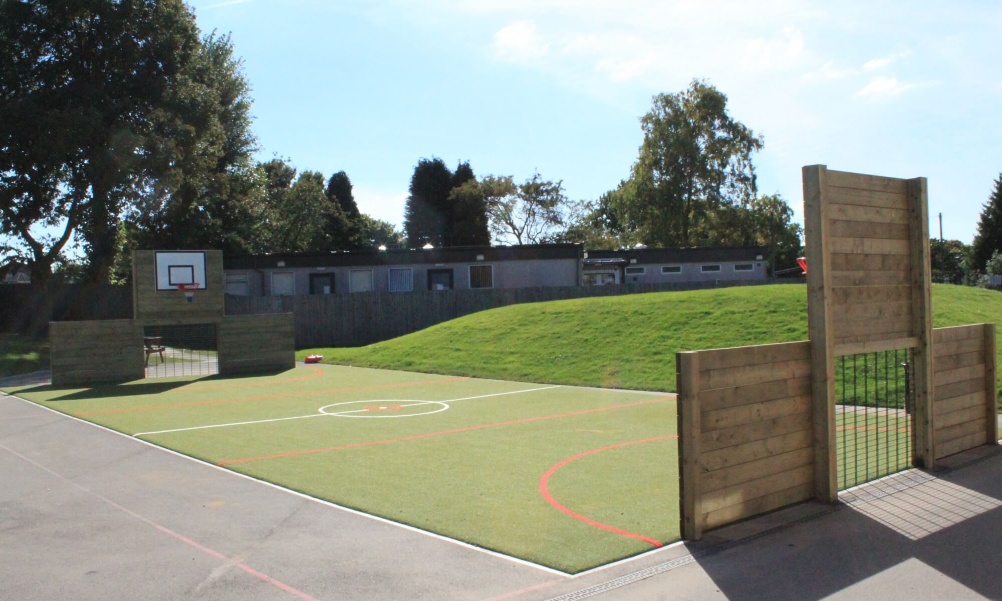 School MUGA design & installation at Pound Hill Primary School in Crawley | Playcubed Playgrounds