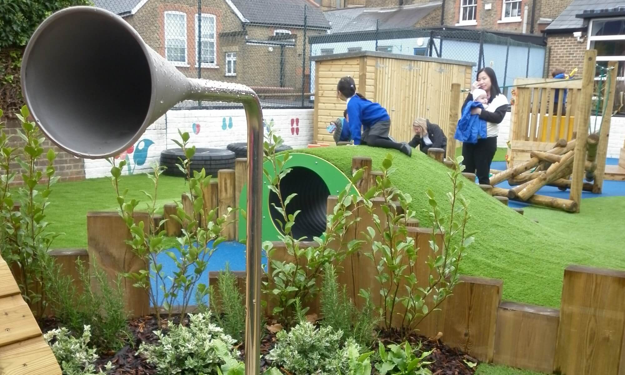 School Playground design & installation at Trinity St Mary's School in Balham, London | Playcubed Playgrounds