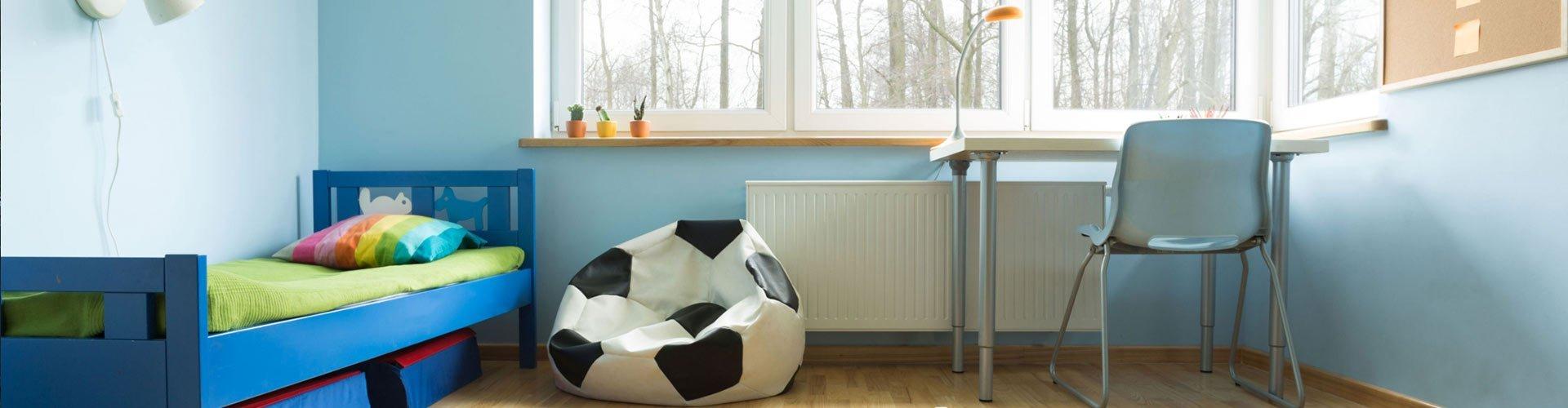 Armani Painting Boys Bedroom Blue Walls
