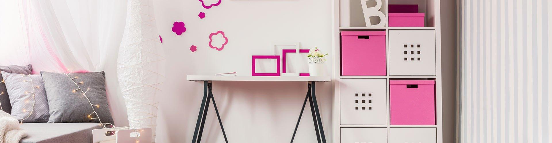 Modern Girls Bedroom Pink Paint