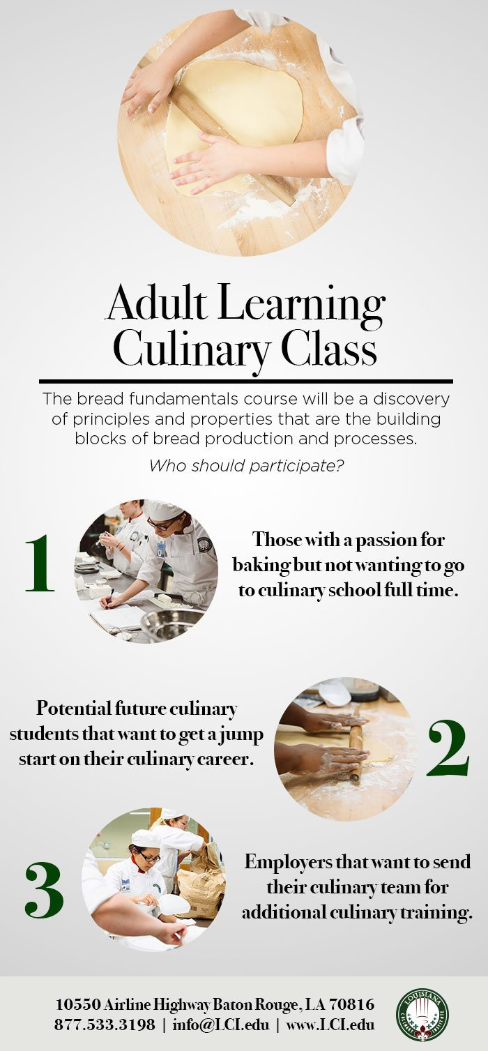 Adult learning culinary class infographic adult learning culinary classes bread basics thecheapjerseys Choice Image