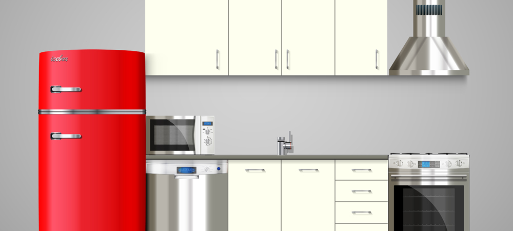 Refrigerator, microwave and other kitchen appliances