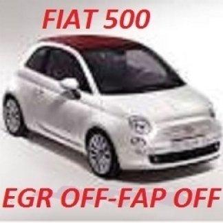 FIAT 500 egr off fap off tecnauto palermo