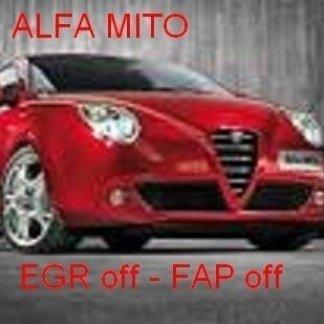 alfa mito 1.3 jtdm a.6 jtdm egr off fap off tecnauto palermo rimappatura centralina auto