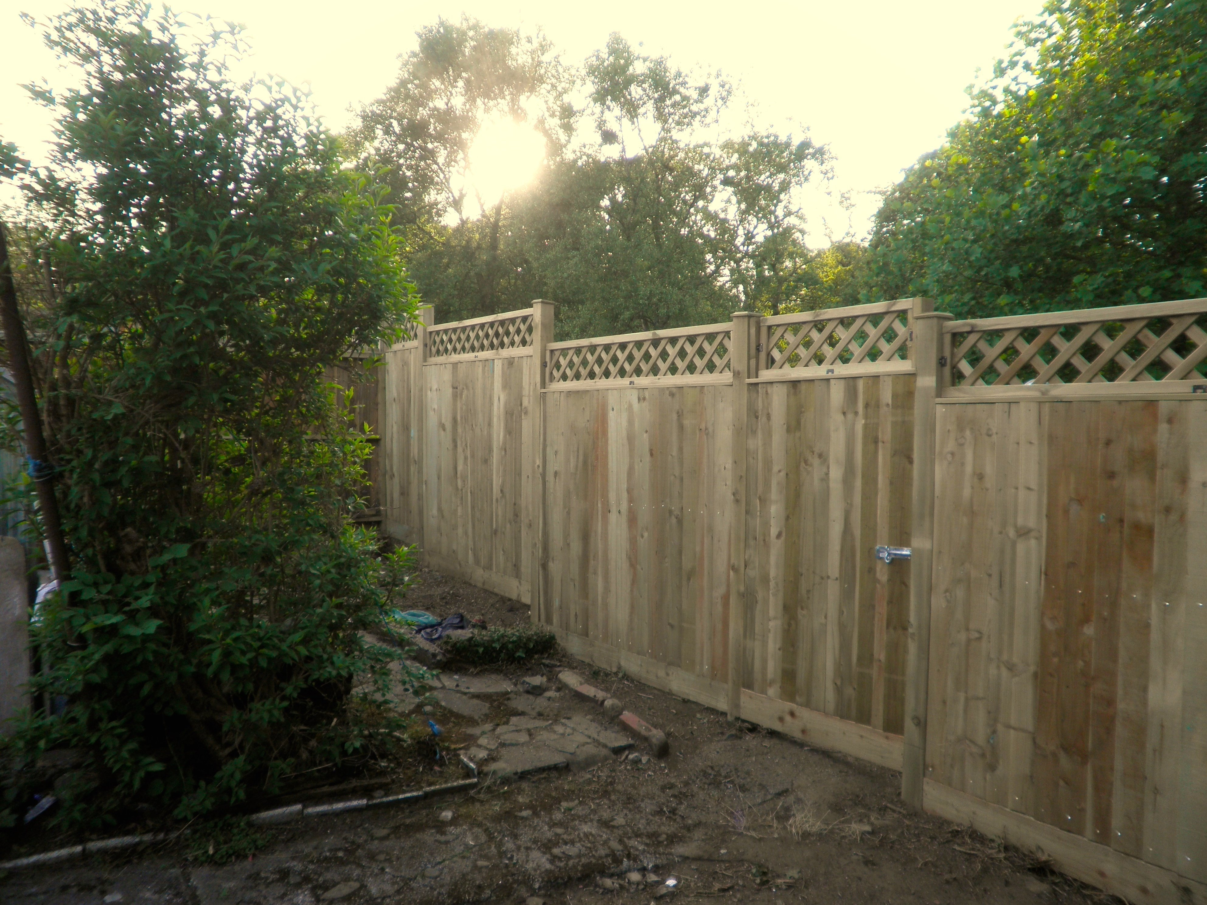 First class garden fencing and decking work in swansea garden fencing baanklon Image collections