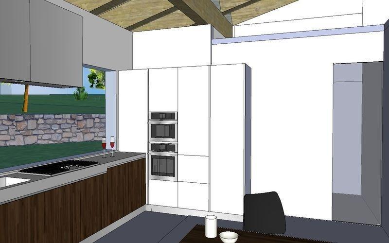 Cucina con mobili su misura