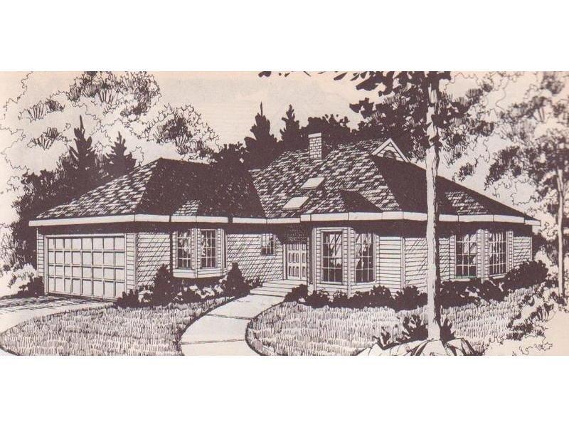 Disegno di villa con garage