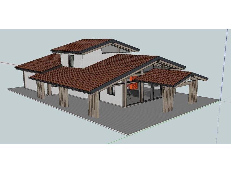 Progettazione villa con porticato