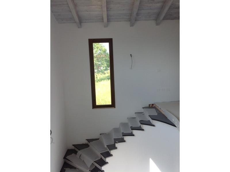 Scala con gradini in legno scuro
