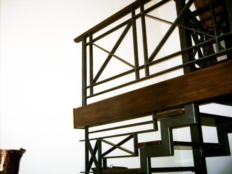 Ringhiera per scalinata in ferro battuto