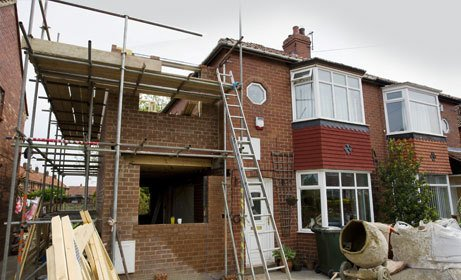 Delightful An Extension Being Built