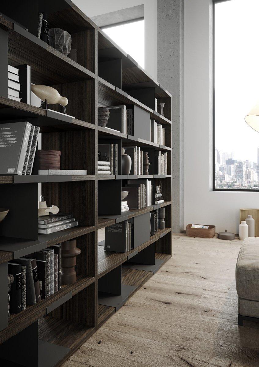 parete attrezzata e libreria