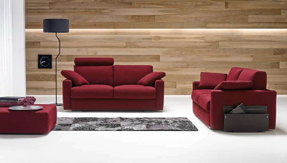divano rosso