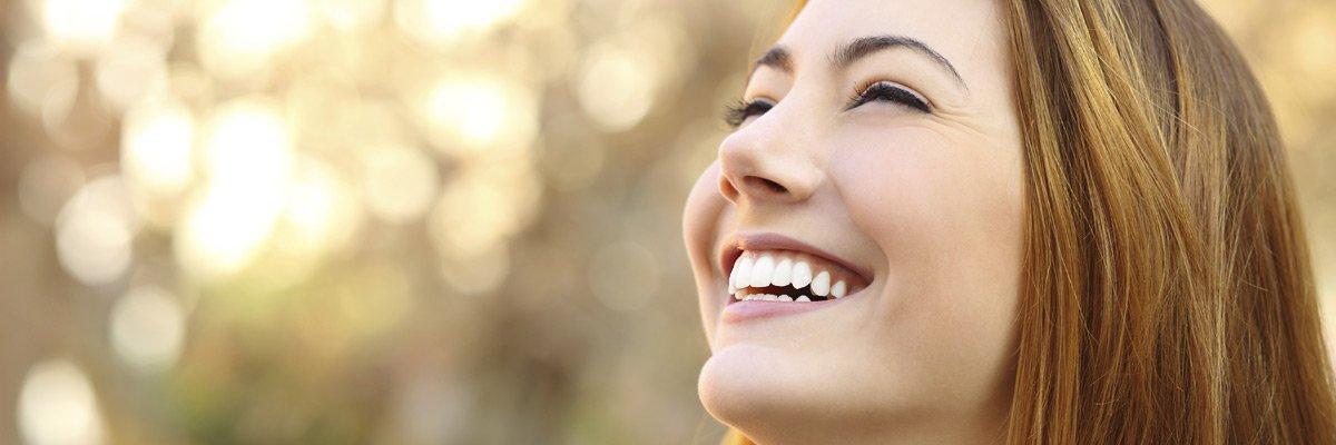 dental essentials smiling lady