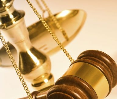 Gavel and legal scale