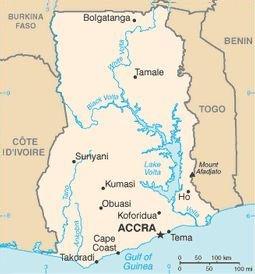 Ghana, Africa Map