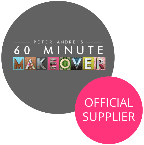 60 minutes makeover official supplier logo