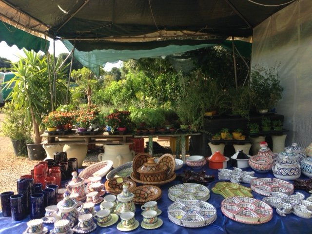 esposizione vasi da giardino