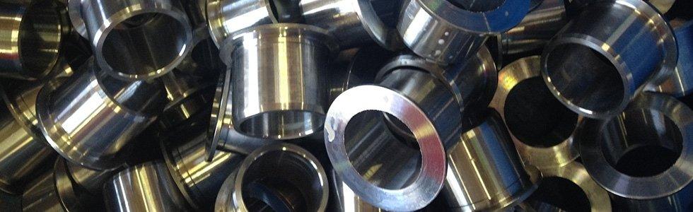 boccole cilindriche acciaio