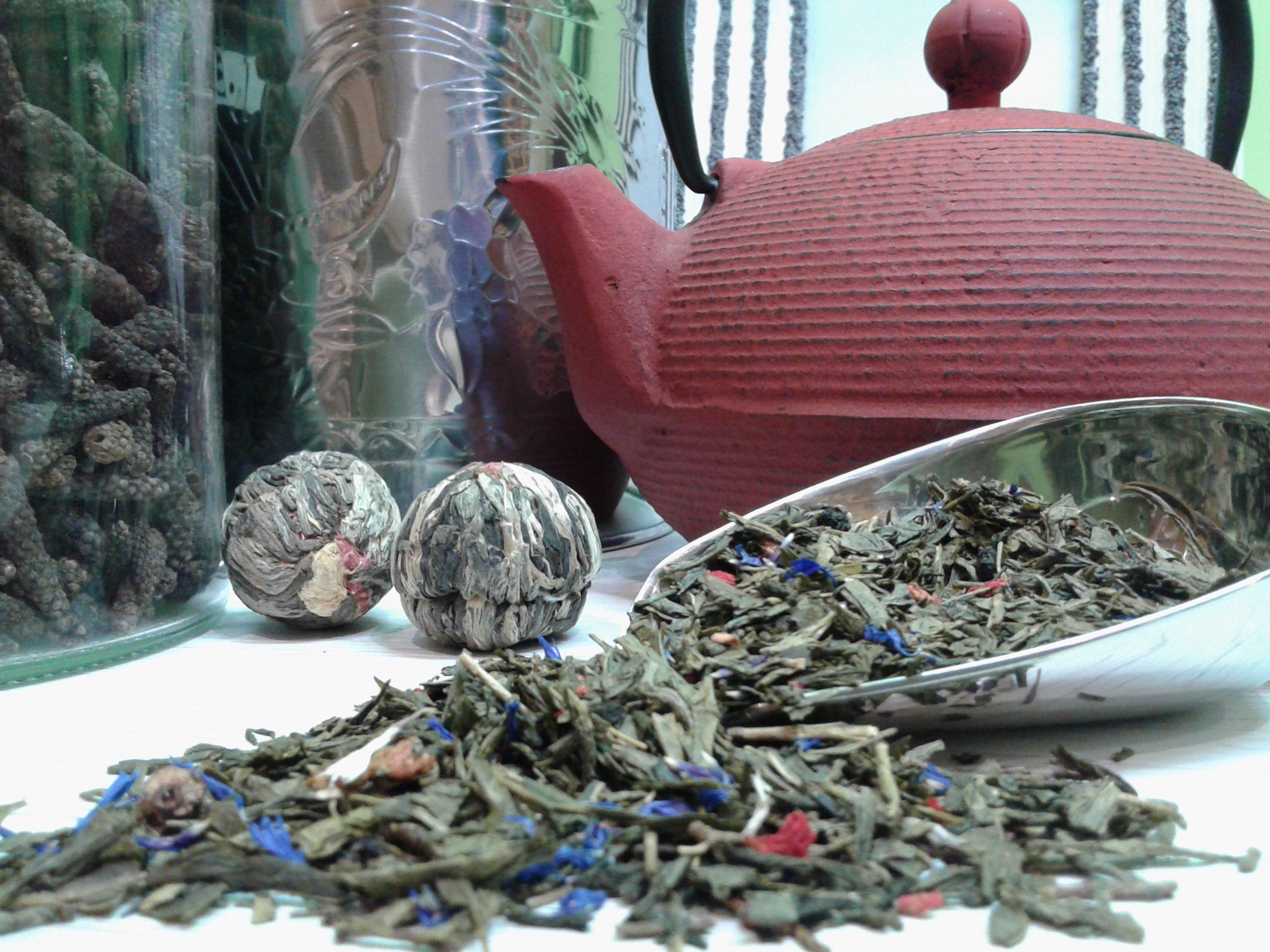 Delle erbe da tè disidratate