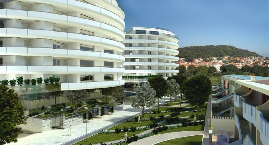 centro residenziale visto dall'alto