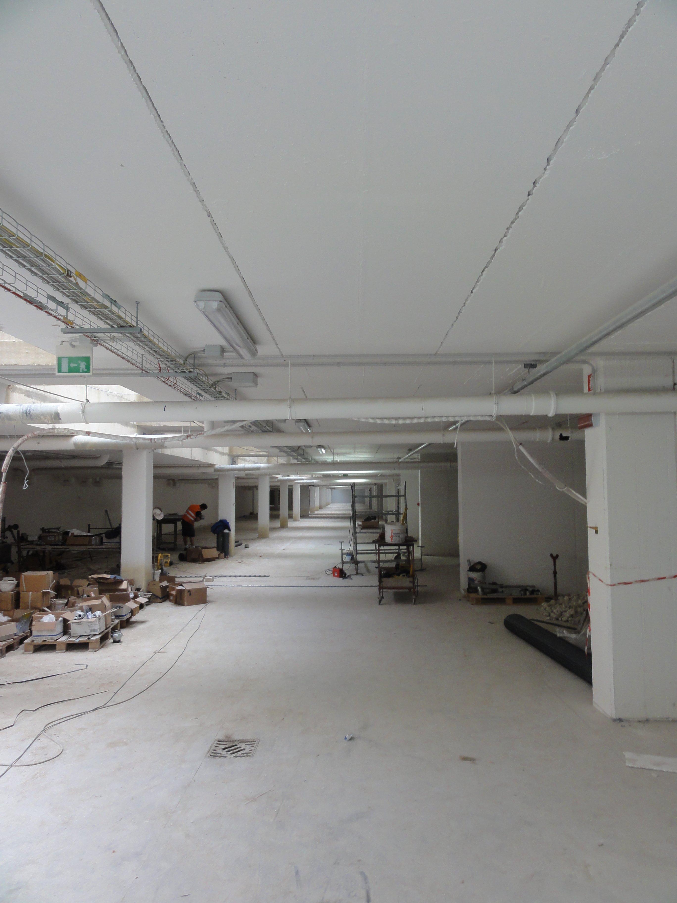 parcheggio sotterraneo in costruzione