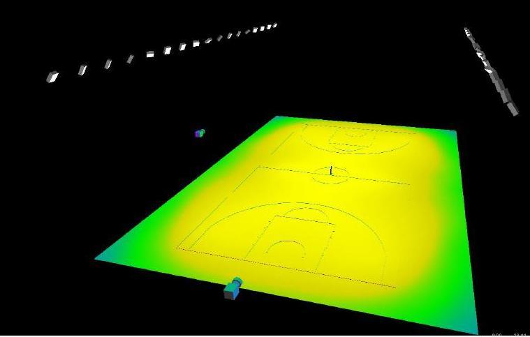 campo da calcio illuminato