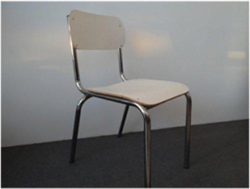 sedia in plastica bianca