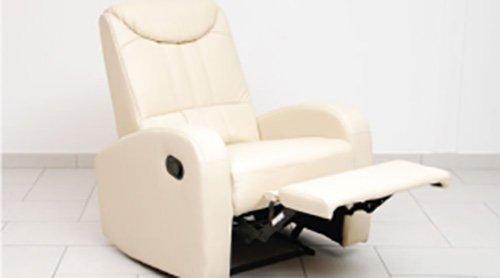 poltrona reclinabile beige