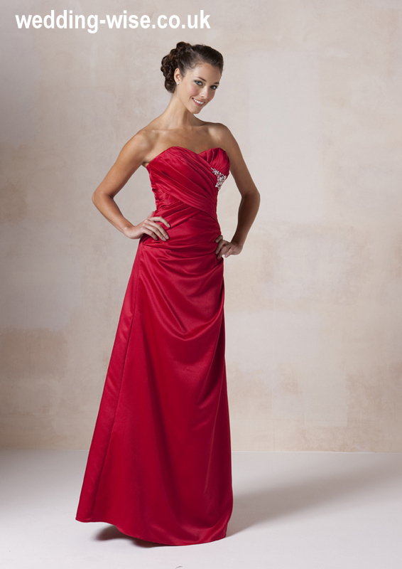 red satin bridesmaid