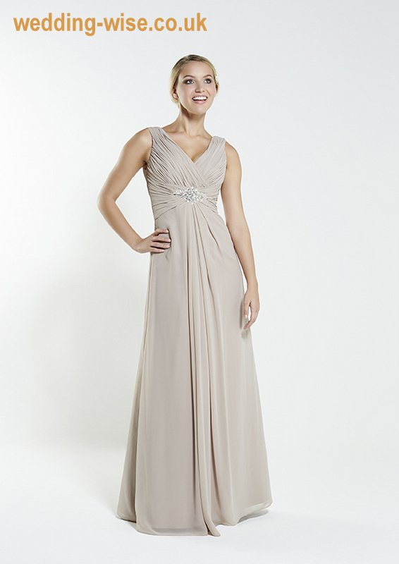 mocha chiffon bridesmaid